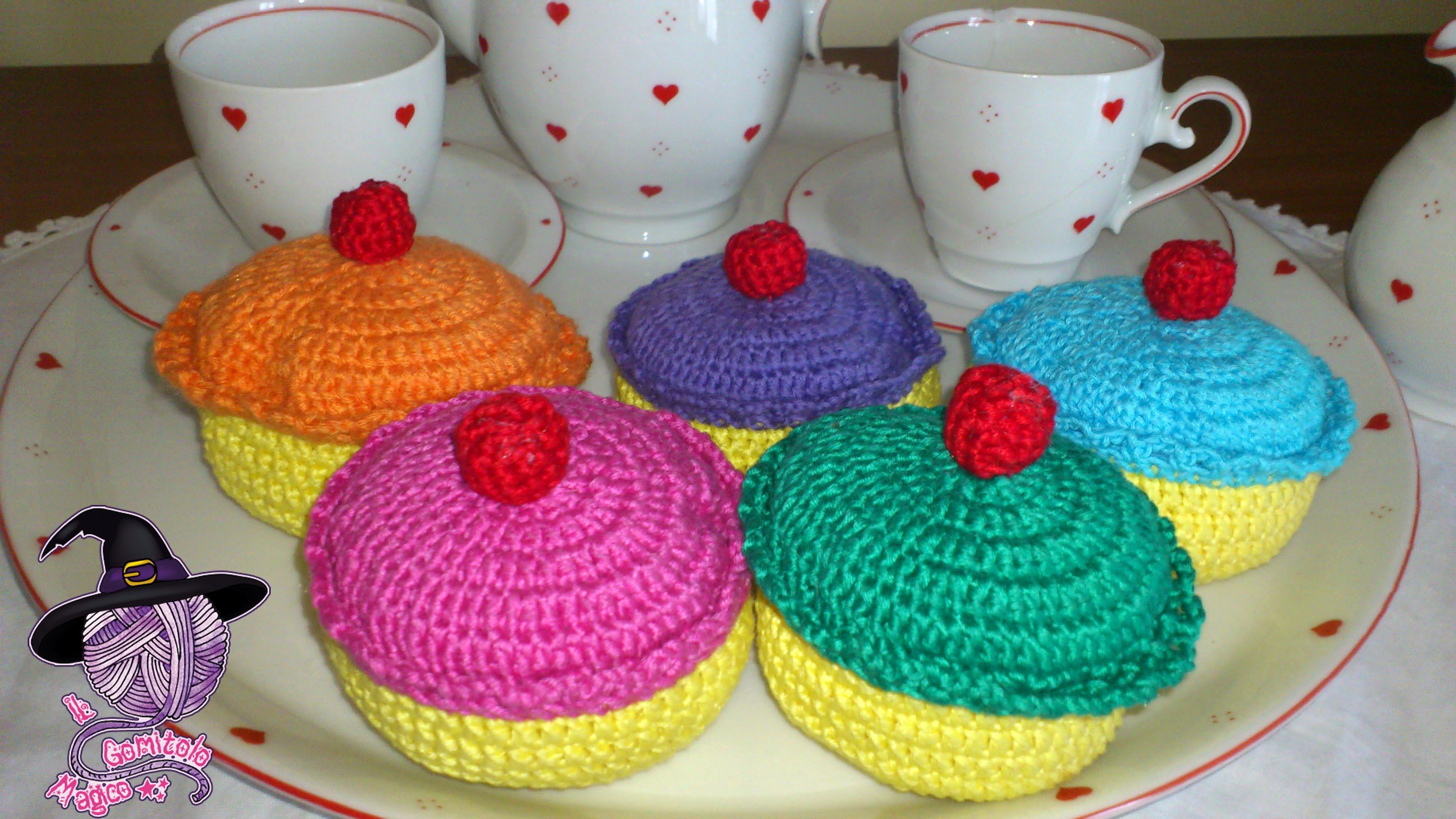 pasticcini amigurumi cupcake
